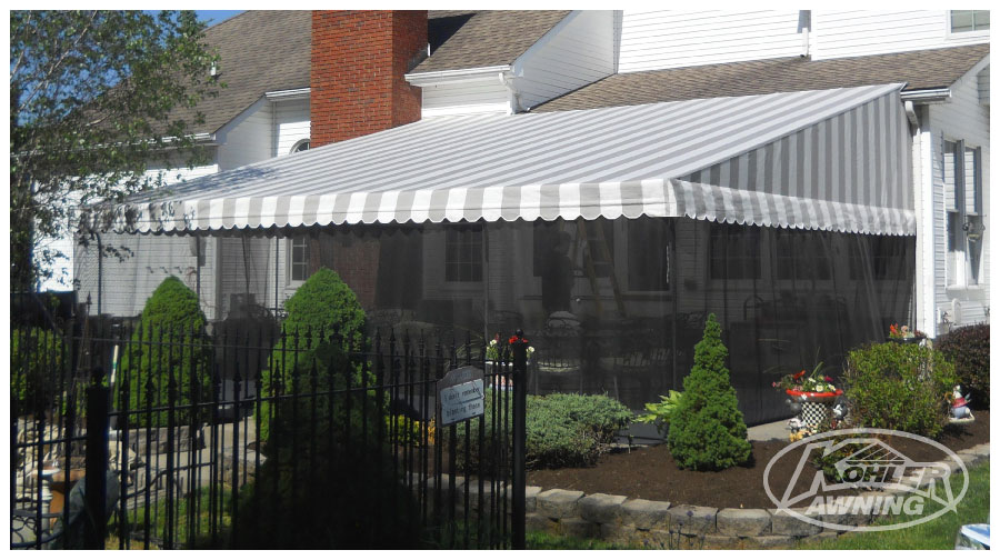 Head Rod Roof Fabric Awnings Kohler Awning
