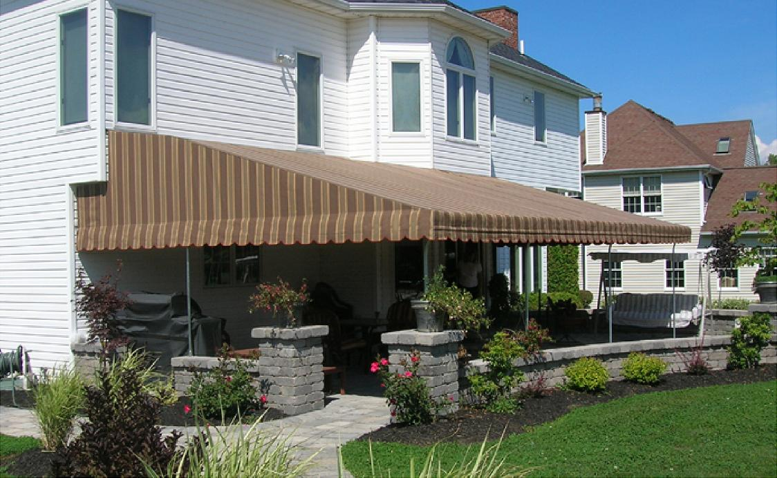 pin plus awning elite family patio durasol deck sunshelter awnings