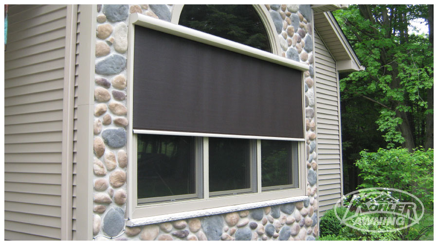 Exterior shades for windows custom exterior solar shades for Motorized blinds not working