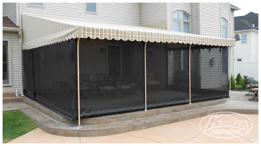 Screens for Patio Awnings | Kohler Awning